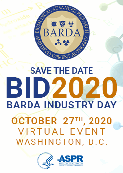 BARDA Industry Day 2020 Virtual Event Save the Date October 27, 2020